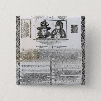 Frederickの結婚の宣言V 5.1cm 正方形バッジ