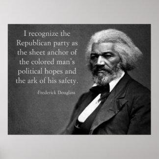 Frederick Douglassの共和党員 ポスター