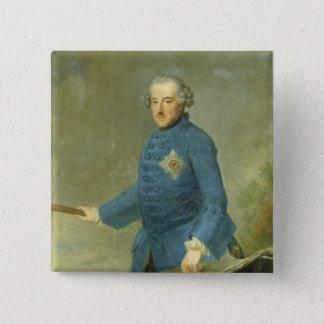 Frederick IIプロシアの素晴らしいの、c.1770 5.1cm 正方形バッジ