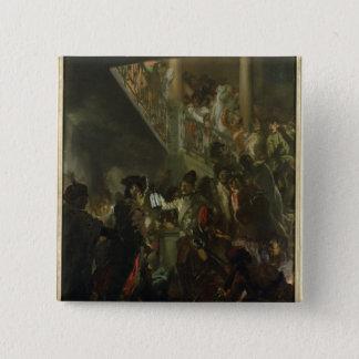Frederick II素晴らしいの、Lissaで、Bonsoir 5.1cm 正方形バッジ