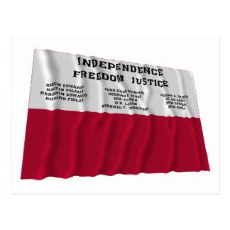 Fredonia共和国の旗 ポストカード