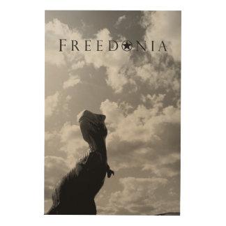 Freedoniaの木製のパネル-恐竜 ウッドウォールアート