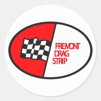 Freemontのドラッグのストリップ ラウンドシール