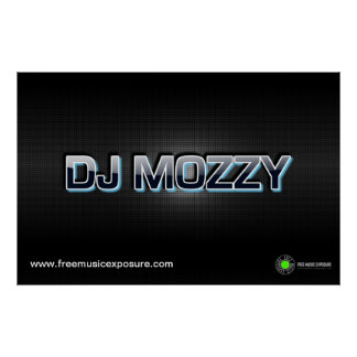 FreeMusicExposureのためのDJ Mozzyカーボン織り方ポスター ポスター