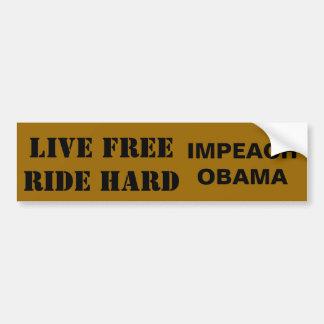 FREERIDEの懸命は住んでいましたり、オバマを弾劾します バンパーステッカー
