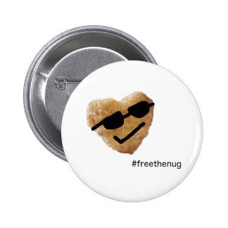 #freethenugボタン 5.7cm 丸型バッジ