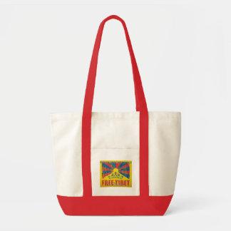FreeTibetのアクセントのバッグ トートバッグ