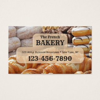 French Bakery Business Card 名刺