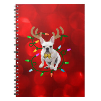 French Bulldog Reindeer ノートブック