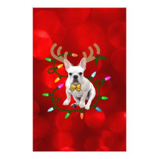 French Bulldog Reindeer 便箋