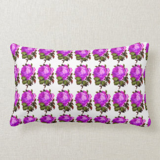 French_Spring_Floral_Violet-Rose_Lumbar_Accent ランバークッション