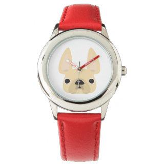Frenchieのクリーム色の腕時計 腕時計