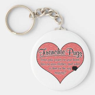 Frenchieのパグの足は犬のユーモアを印刷します キーホルダー
