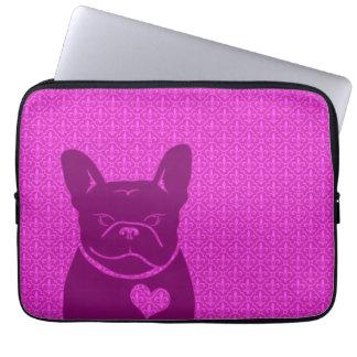 FRENCHIEの(紋章の)フラ・ダ・リの紫色のラップトップスリーブ ラップトップスリーブ