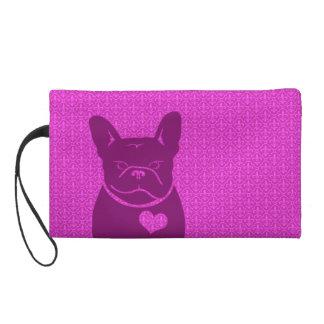 FRENCHIEの(紋章の)フラ・ダ・リの紫色のWristlet リストレット