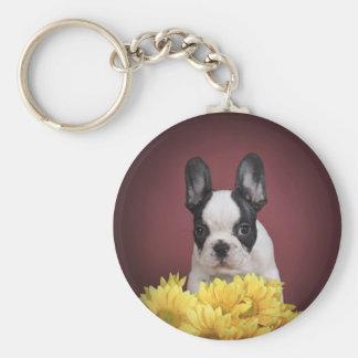Frenchie -フレンチ・ブルドッグの子犬 キーホルダー