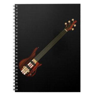 Fretless 5のひものベースギター ノートブック