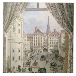 Freyungの眺め、ウィーン1825年(papeのグワッシュ タイル