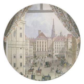 Freyungの眺め、ウィーン1825年(papeのグワッシュ プレート