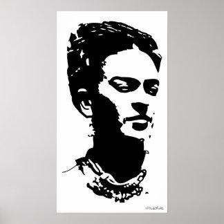 Fridaの影のポートレート ポスター