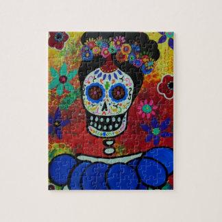 Frida Dia de Los Muertos Puzzle ジグソーパズル