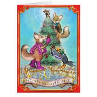 Friedaはクリスマスカードの- Frieda及びジャック後につきます カード