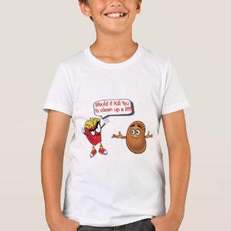 fries telling raw potato clean up funny kids shirt tシャツ