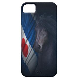 Friesianの旗を持つFriesianの馬 iPhone SE/5/5s ケース