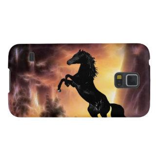 Friesianの種馬の馬の養育 Galaxy S5 ケース