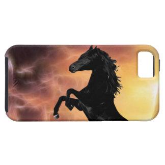 Friesianの種馬の馬の養育 iPhone SE/5/5s ケース