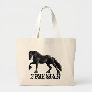 Friesianの種馬 ラージトートバッグ