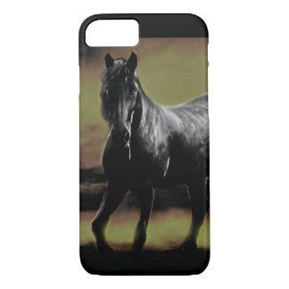 Friesianの馬のシルエット iPhone 8/7ケース