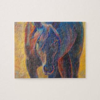 Friesianの馬のパズル ジグソーパズル