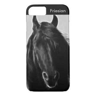 Friesianの馬のプロフィール iPhone 8/7ケース