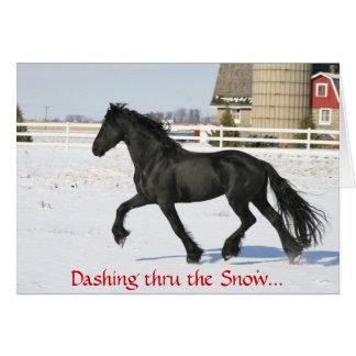 Friesianの馬の休日カード カード
