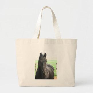Friesianの馬の環境のトートバック ラージトートバッグ