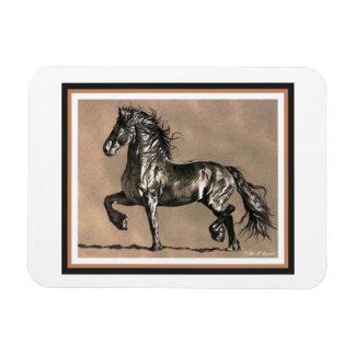 Friesianの馬の磁石 マグネット