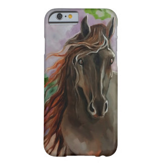Friesianの馬のIPhone6ケース Barely There iPhone 6 ケース