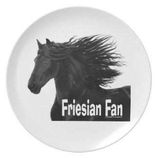 Friesianの馬ファンのプレート プレート