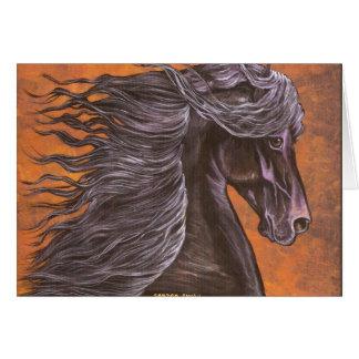 Friesianの馬頭部 カード