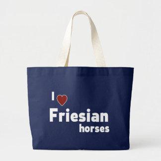 Friesianの馬 ラージトートバッグ