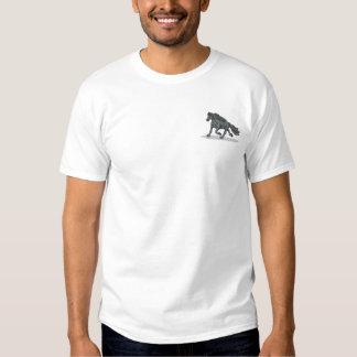 Friesianの馬 刺繍入りTシャツ