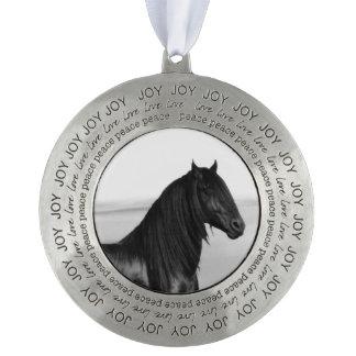 Friesianの黒い種馬の馬 オーナメント