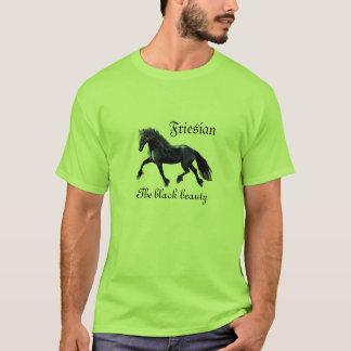 Friesian、種馬、黒い美しい Tシャツ