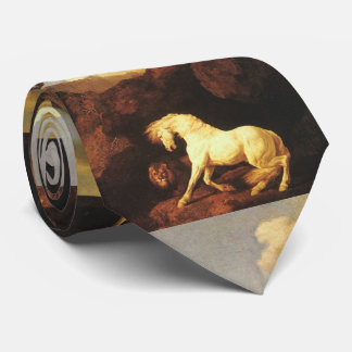 Frightened White Horse by A Lion オリジナルネクタイ