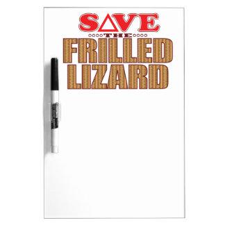 Frilledトカゲの保存 ホワイトボード