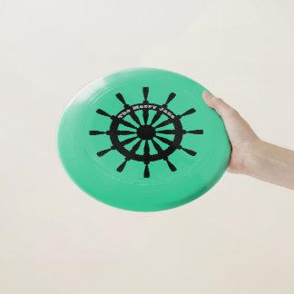 Frisbee - Black Ship Wheel with Name Wham-Oフリスビー