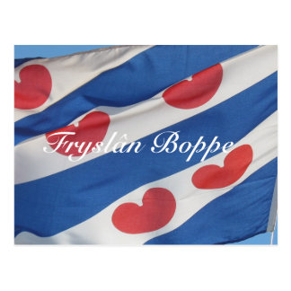 Frisianの旗のFryslân Boppeの郵便はがきKaart ポストカード