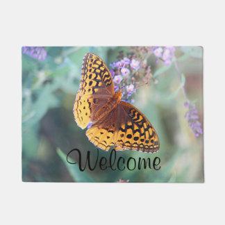 Fritillaryの蝶 ドアマット