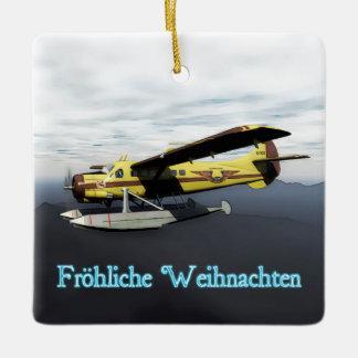 Froehliche Weihnachten - de Havilland DH3-Cのカワウソ セラミックオーナメント